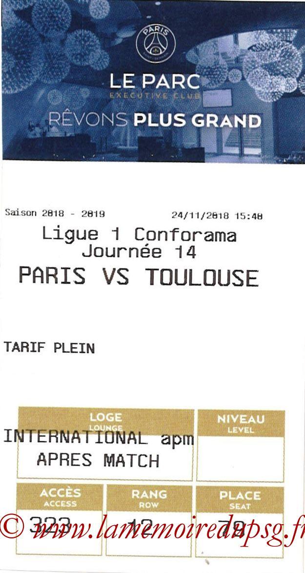 2018-11-24  PSG-Toulouse (14ème L1, E-ticket Executive club)