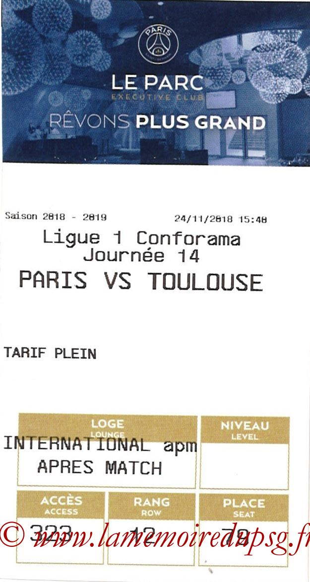 2018-11-24  PSG-Toulouse (14ème L1, E-ticket Executive club)