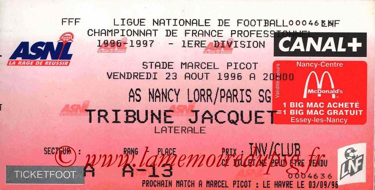 1996-08-23  Nancy-PSG (3ème D1)