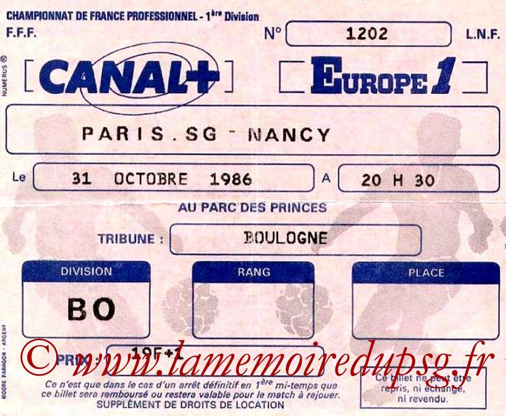 1986-10-31  PSG-Nancy (15ème D1)