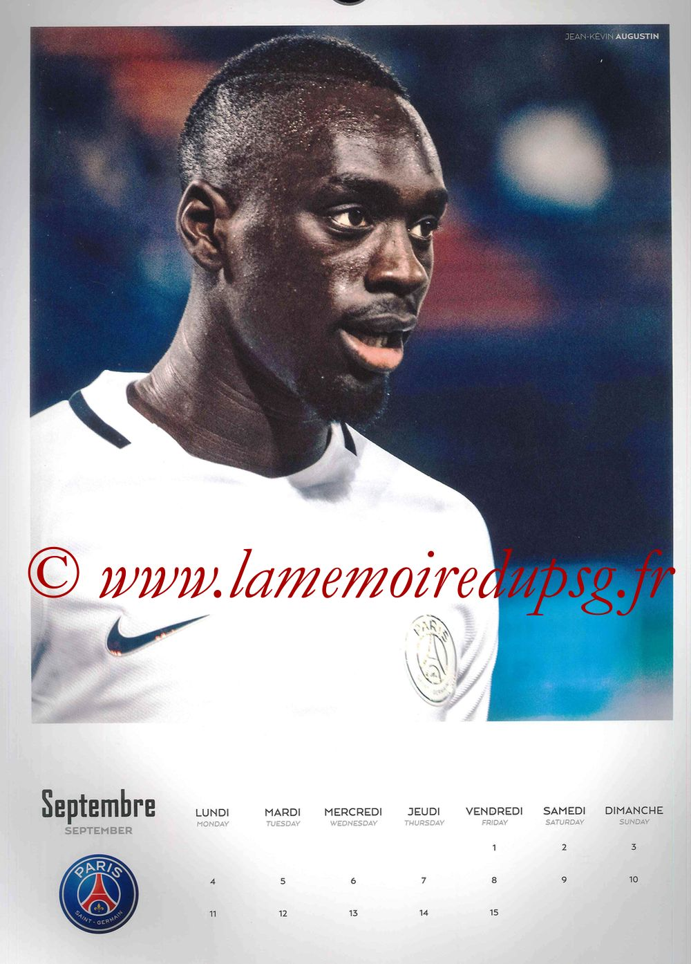 Calendrier PSG 2017 - Page 17 - Jean-Kévin AUGUSTIN