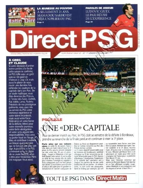 2011-05-21  PSG-Lille (37ème L1, Direct PSG N°17)