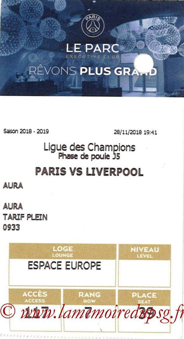 2018-11-28  PSG-Liverpool (5ème C1, E-ticket Executive club)