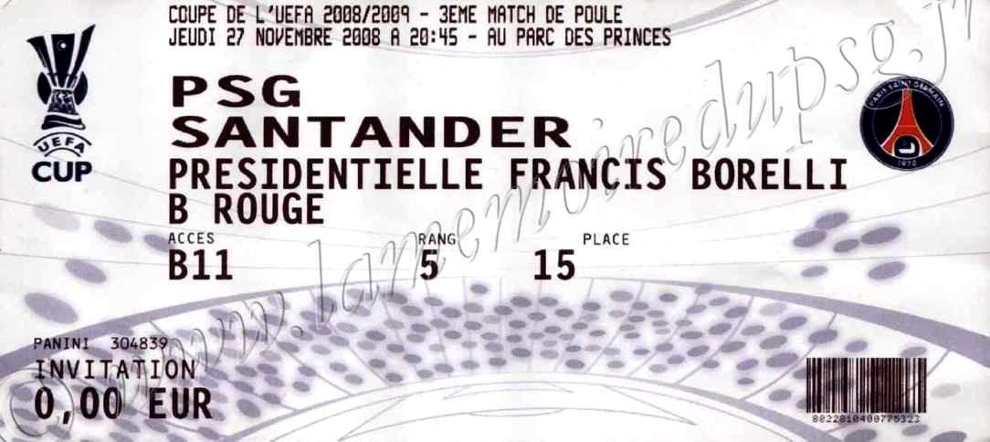 2008-11-27  PSG-Racing Santander (3ème journée Poule C3)