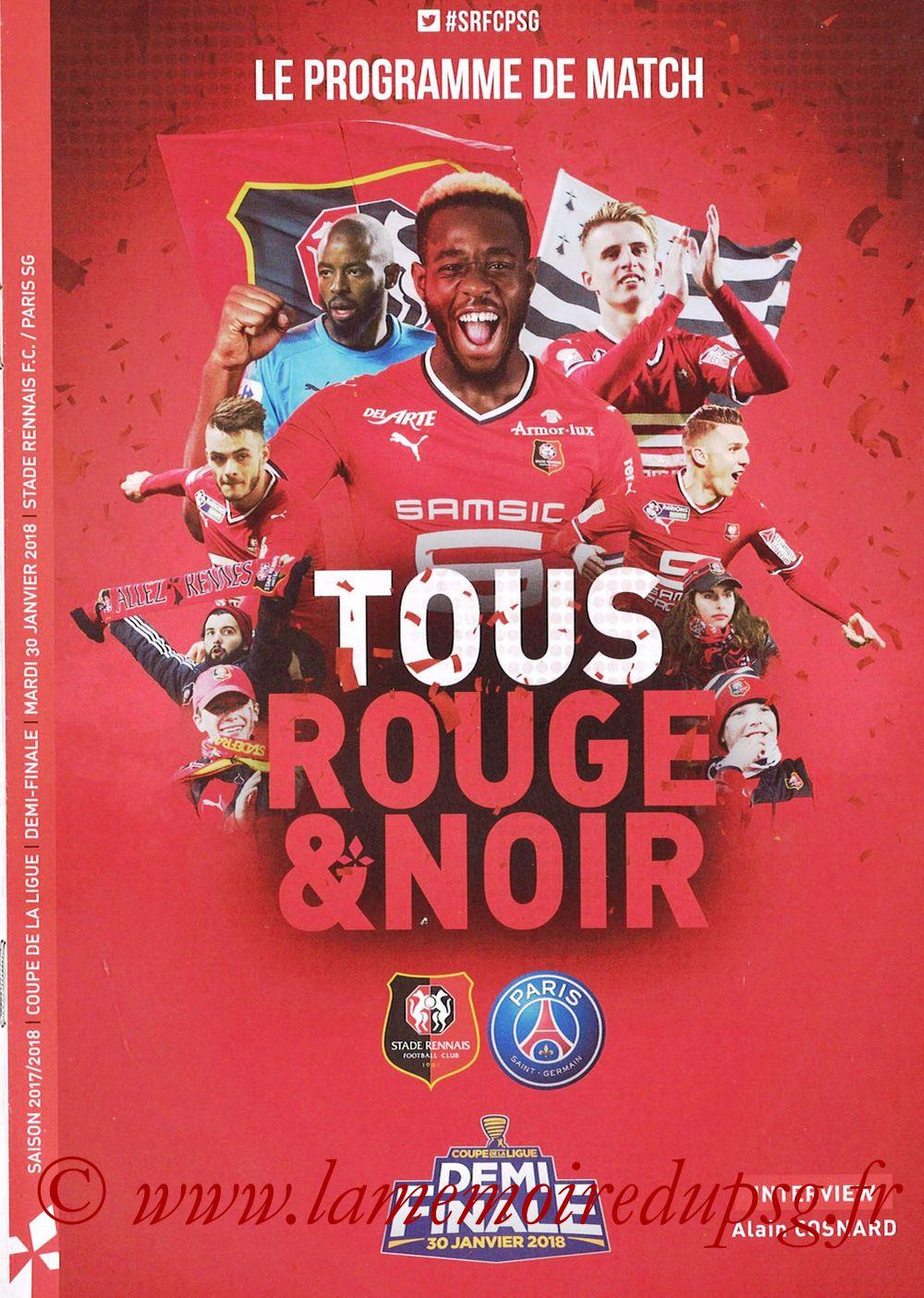 2018-01-30  Rennes-PSG (Demi CL, Programme Officiel)