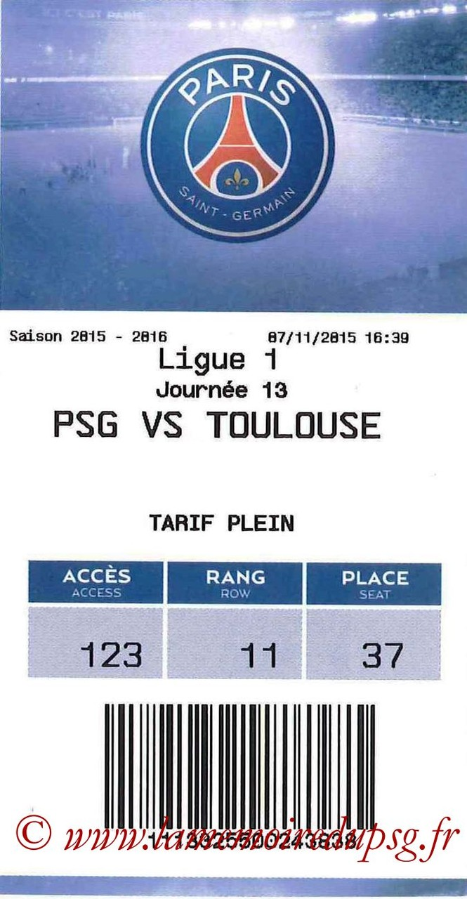 2015-11-07  PSG-Toulouse (13ème L1, E-ticket)