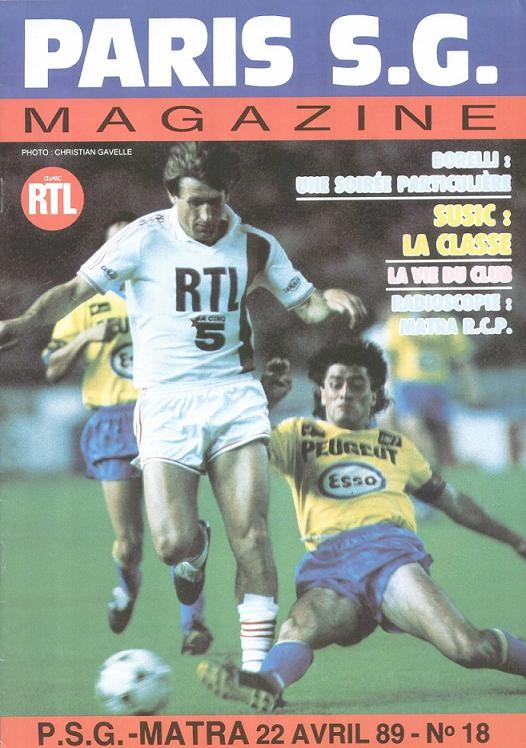 1989-04-22  PSG-Matra Racing (34ème D1, Paris SG Magazine N°18)