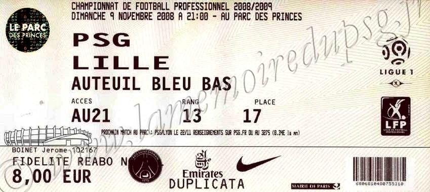 2008-11-09  PSG-Lille (13ème L1)
