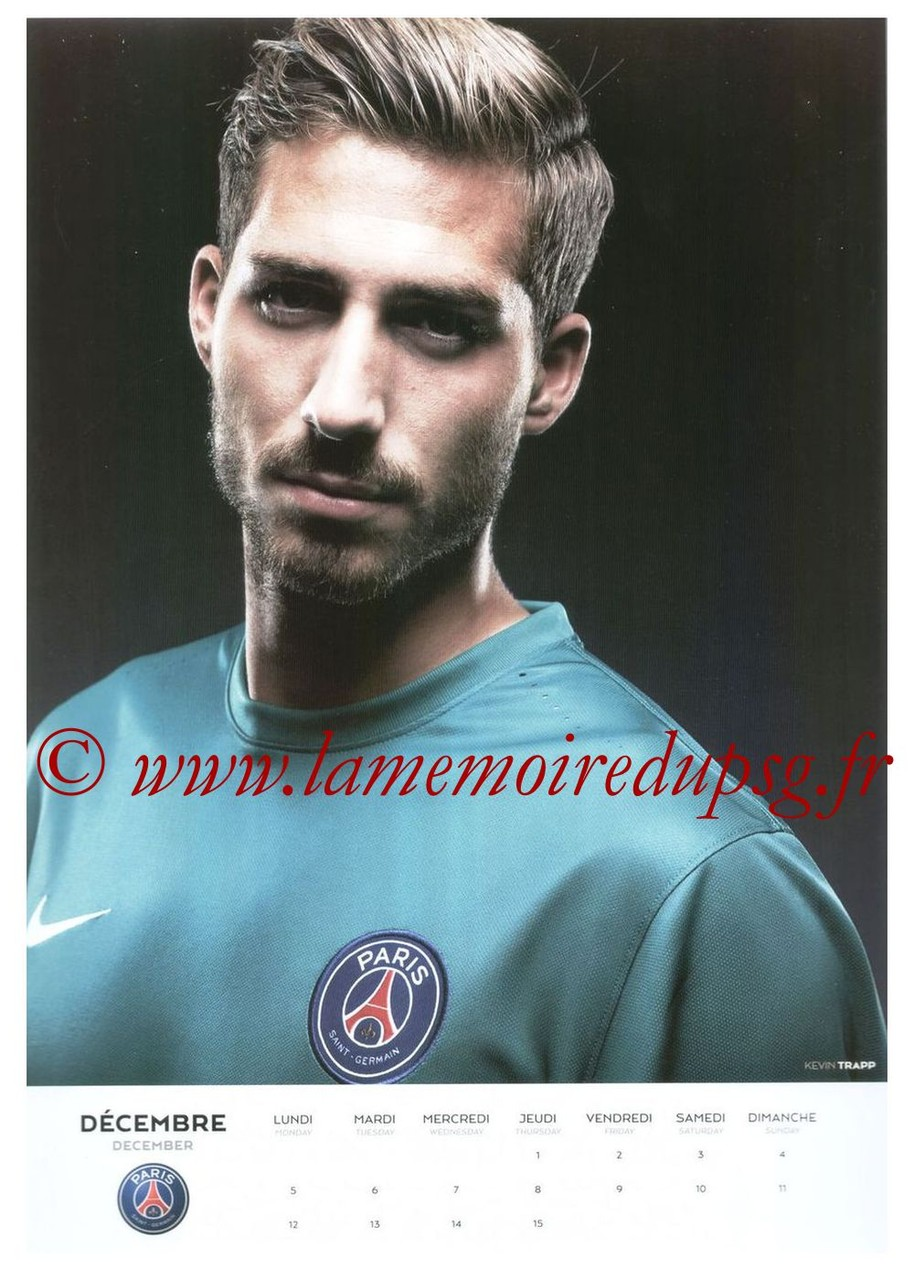 Calendrier PSG 2016 - Page 23 - Kevin TRAPP