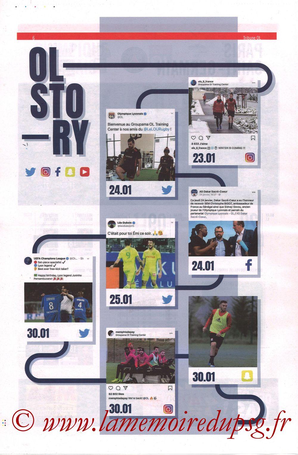 2019-02-03  Lyon-PSG (23ème L1, La Tribune OL N°270) - Page 06
