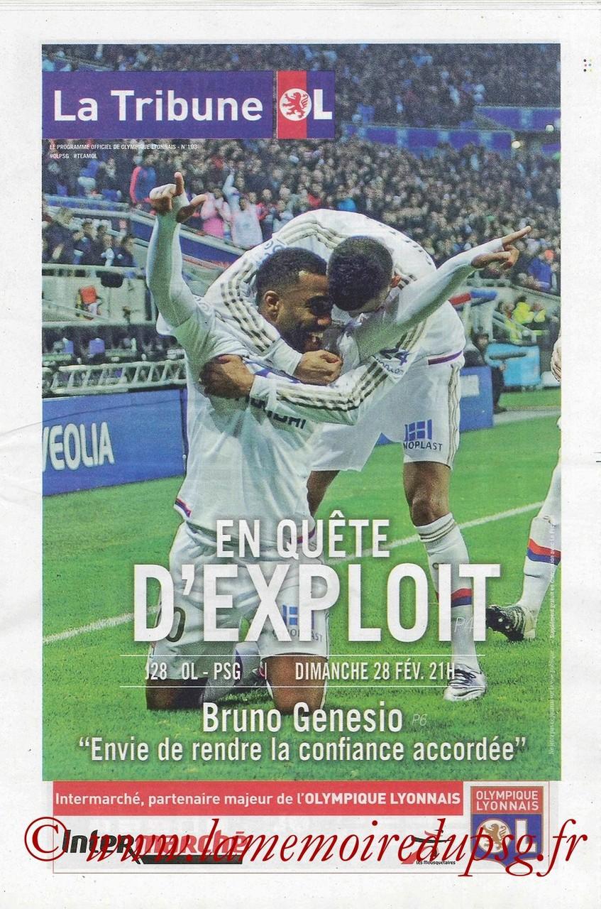 2016-02-28  Lyon-PSG (28ème L1, La Tribune OL)