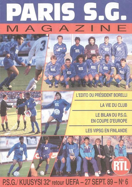 1989-09-27  PSG-Kuusysi Lahti (32ème Finale Retour C3, Paris SG Magazine N°6)