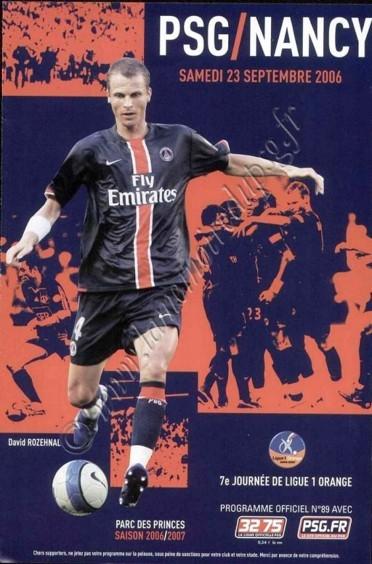 2006-09-23  PSG-Nancy (7ème L1, Officiel N°89)