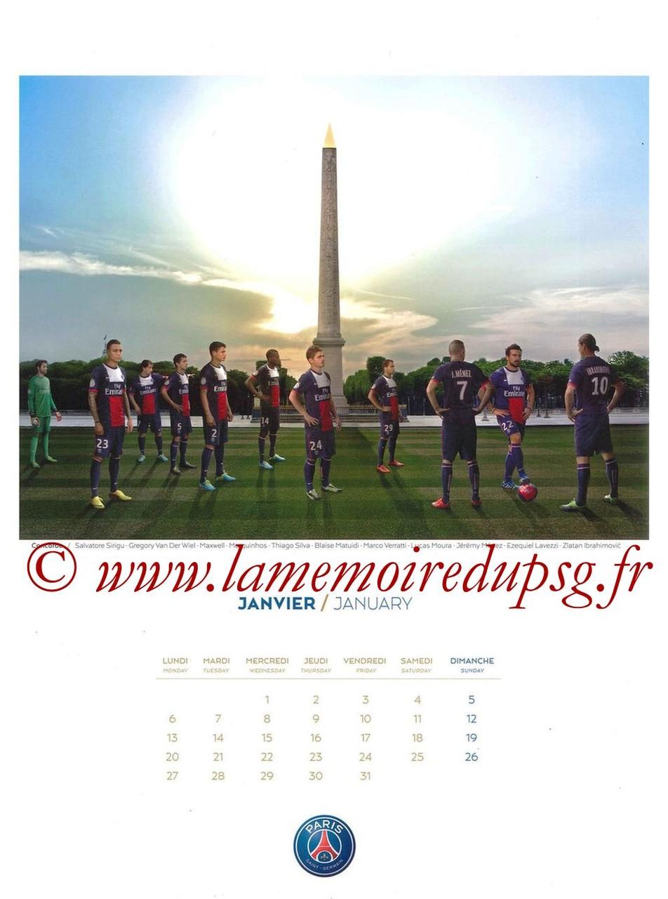 Calendrier PSG 2014 - Page 01 - Concorde