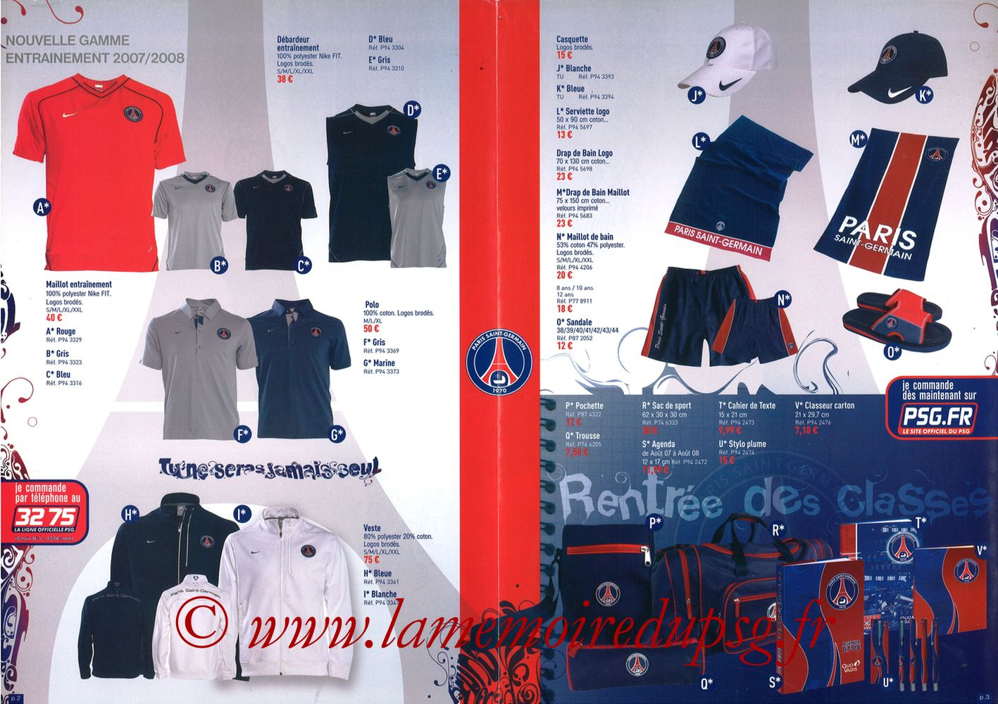 Catalogue PSG - 2007-08b - Pages 02 et 03