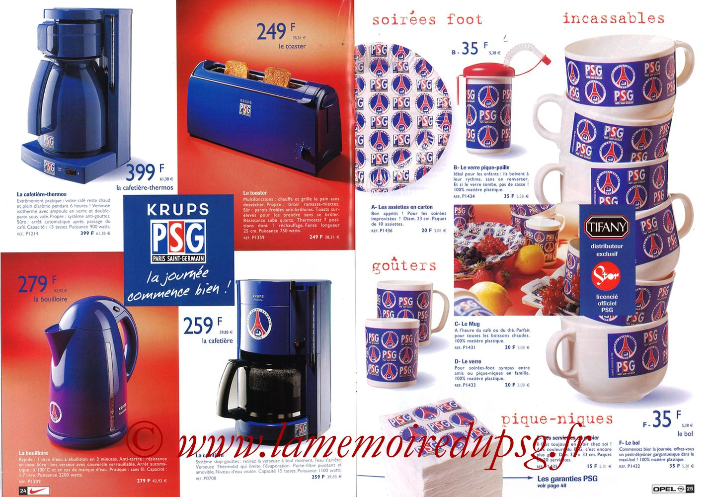 Catalogue PSG - 1998-99 - Pages 24 et 25