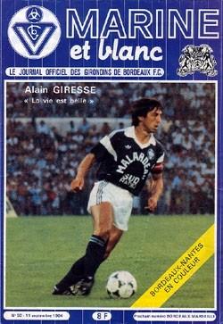 1984-09-11  Bordeaux-PSG (7ème D1, Marine et Blanc N°59