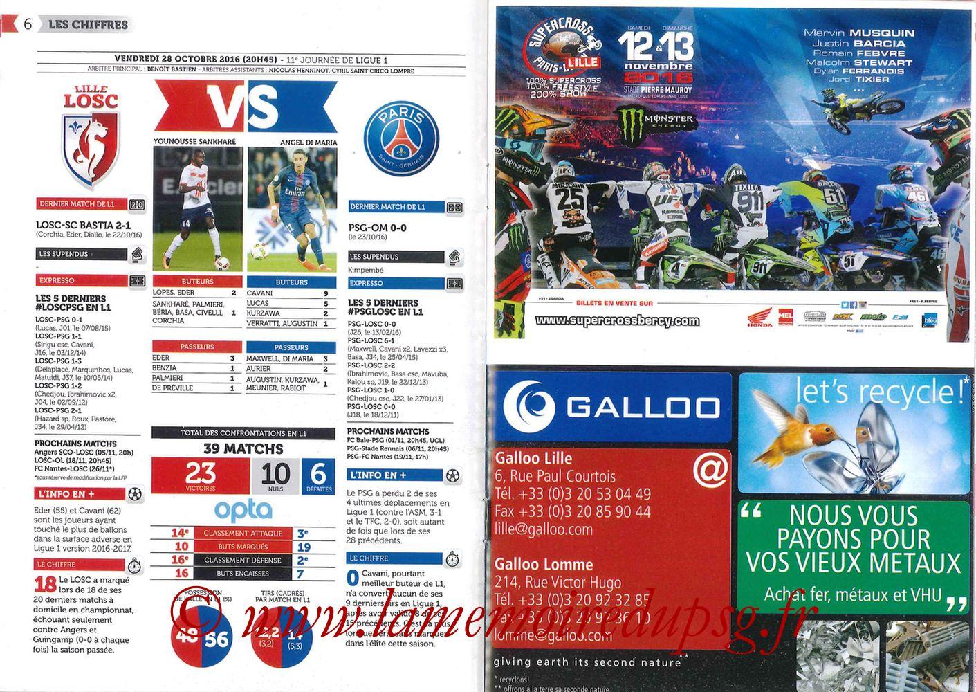 2016-10-28  Lille-PSG (11ème L1, Réservoir Dogues N°57) - Pages 06 et 07
