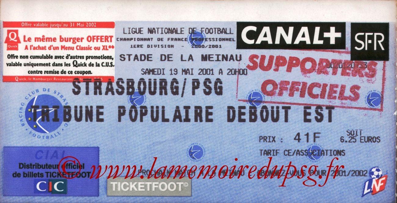 2001-05-19  Strasbourg-PSG (34ème D1)