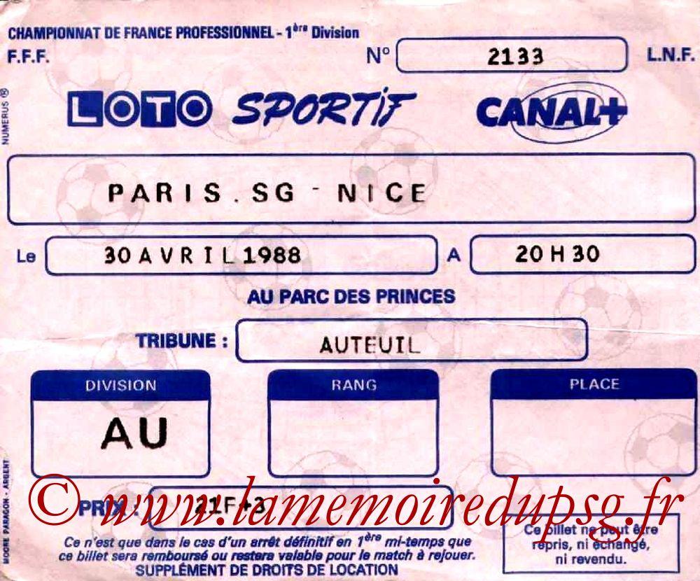 1988-04-30  PSG-Nice (33ème D1)