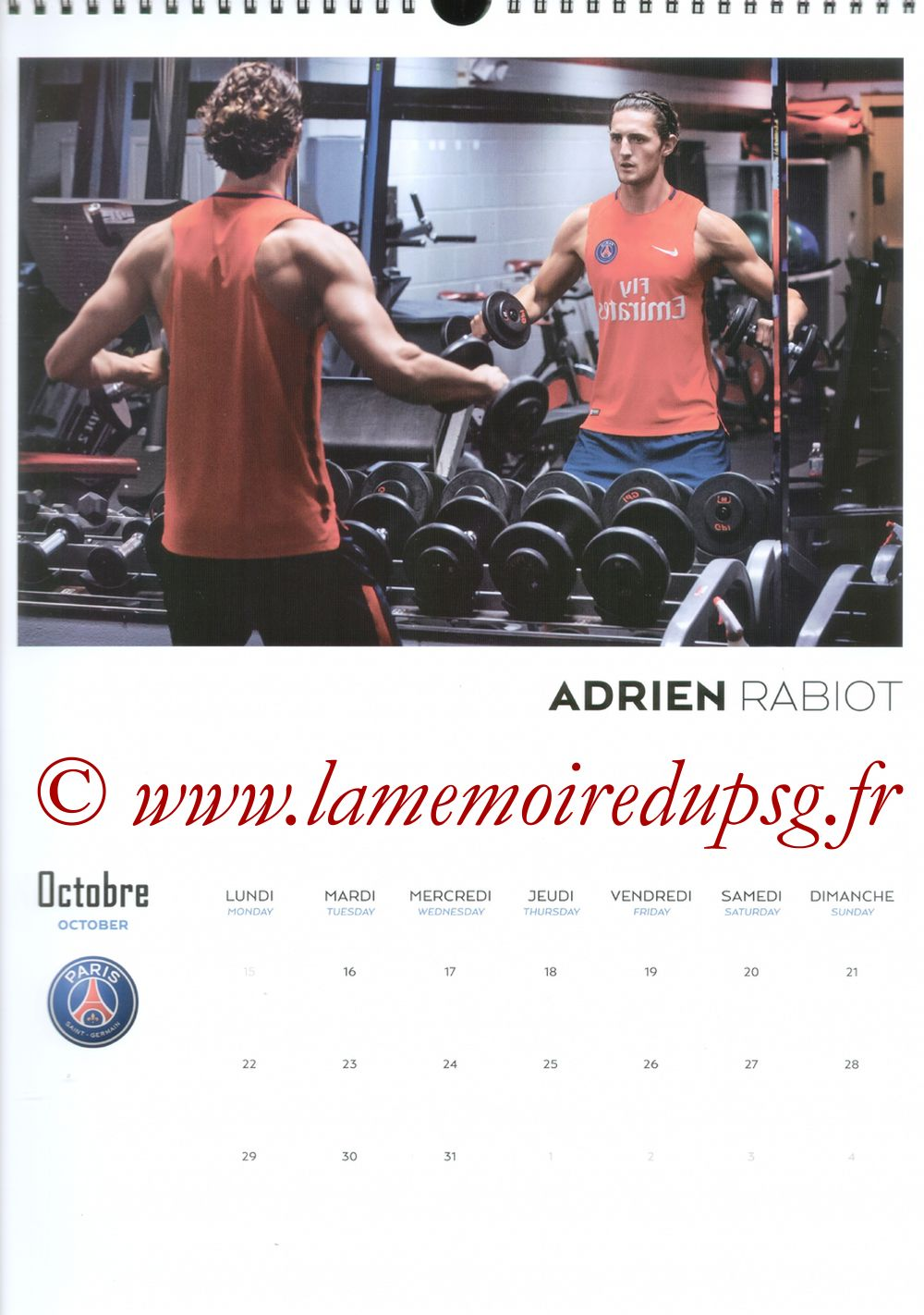 Calendrier PSG 2018 - Page 20 - Adrien RABIOT