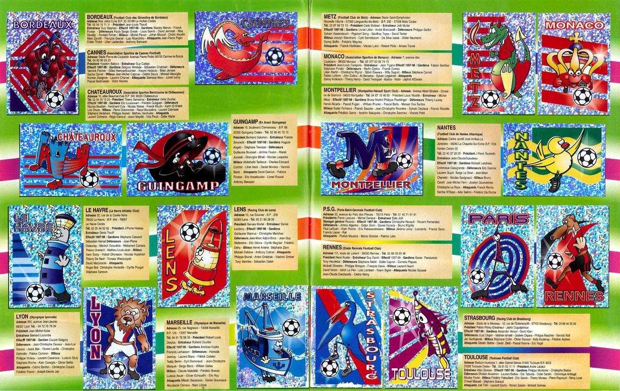 1997-98 - Panini Superfoot - Pages 02 et 03 - Présentation des clubs