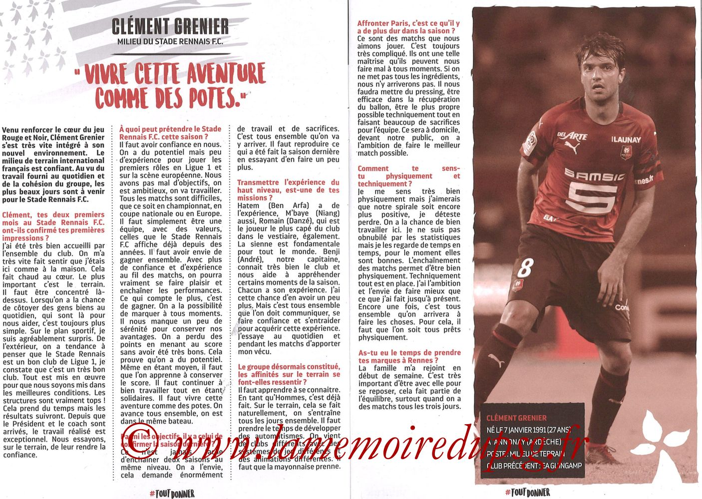 2018-09-23  Rennes-PSG (6ème L1, Programme officiel) - Pages 06 et 07