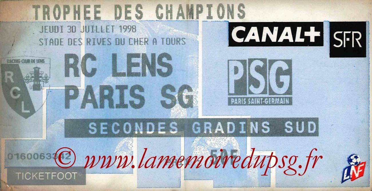 1998-07-30  Lens-PSG (Trophée des Champions à Tours)