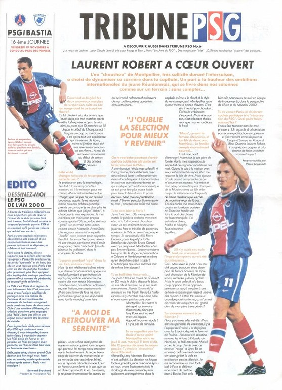 1999-11-19  PSG-Bastia (16ème D1, Tribune PSG N°6)