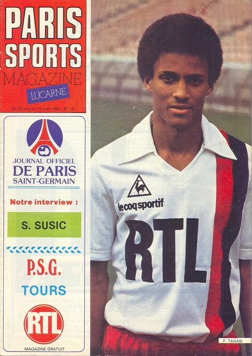 1983-05-24  PSG-Tours (37ème D1, Paris Sports Magazine N°16)