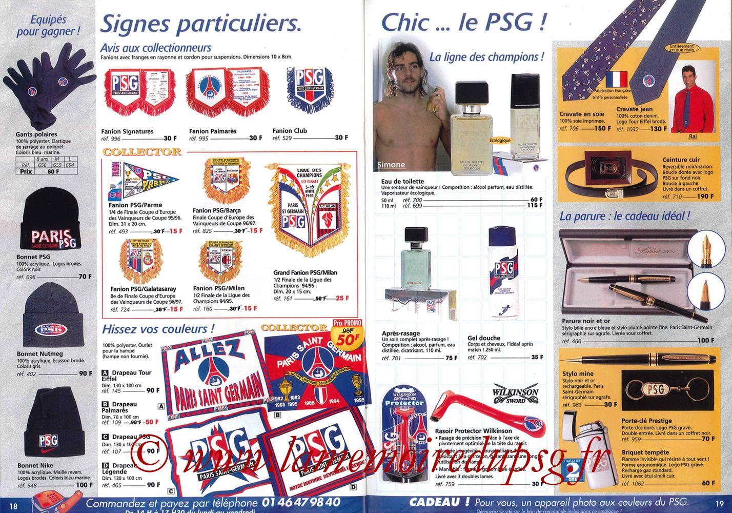 Catalogue PSG - 1997-98 - Pages 18 et 19