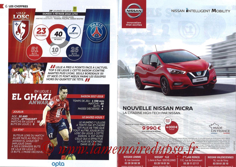 2018-02-03  Lille-PSG (24ème L1, Réservoir Dogues N°82) - Pages 06 et 07