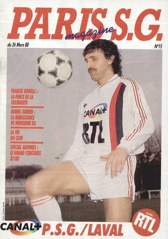 1988-03-26  PSG-Laval (29ème D1, Paris SG Magazine N°15)