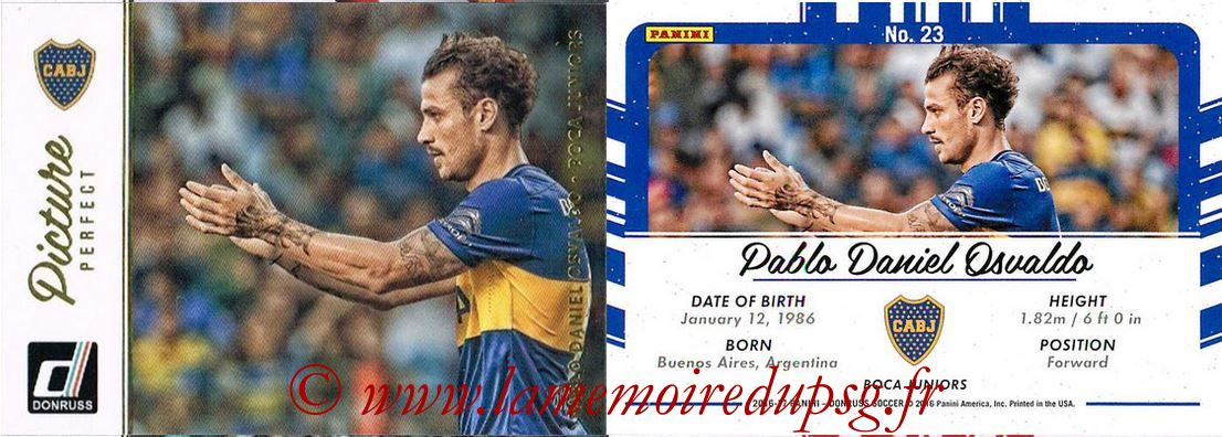 2016 - Panini Donruss Cards - N° PP23 - Pablo Daniel OSVALDO (Boca Juniors) (Picture Perfect)