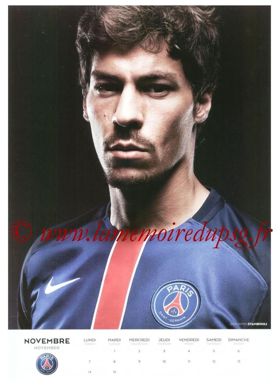 Calendrier PSG 2016 - Page 21 - Benjamin STAMBOULI