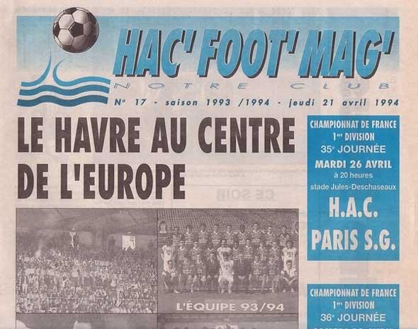 1994-04-26  Le Havre-PSG (35ème D1,  Hac Foot' Mag' N°17)