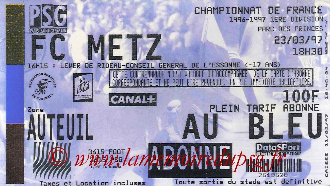 1997-03-23  PSG-Metz (30ème D1)