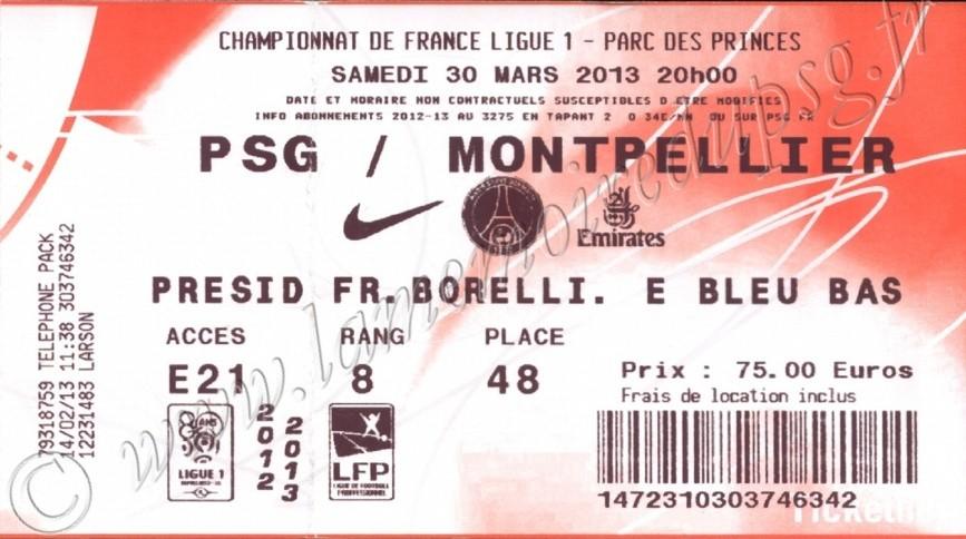 2013-03-29  PSG-Montpellier (30ème L1, Ticketnet)