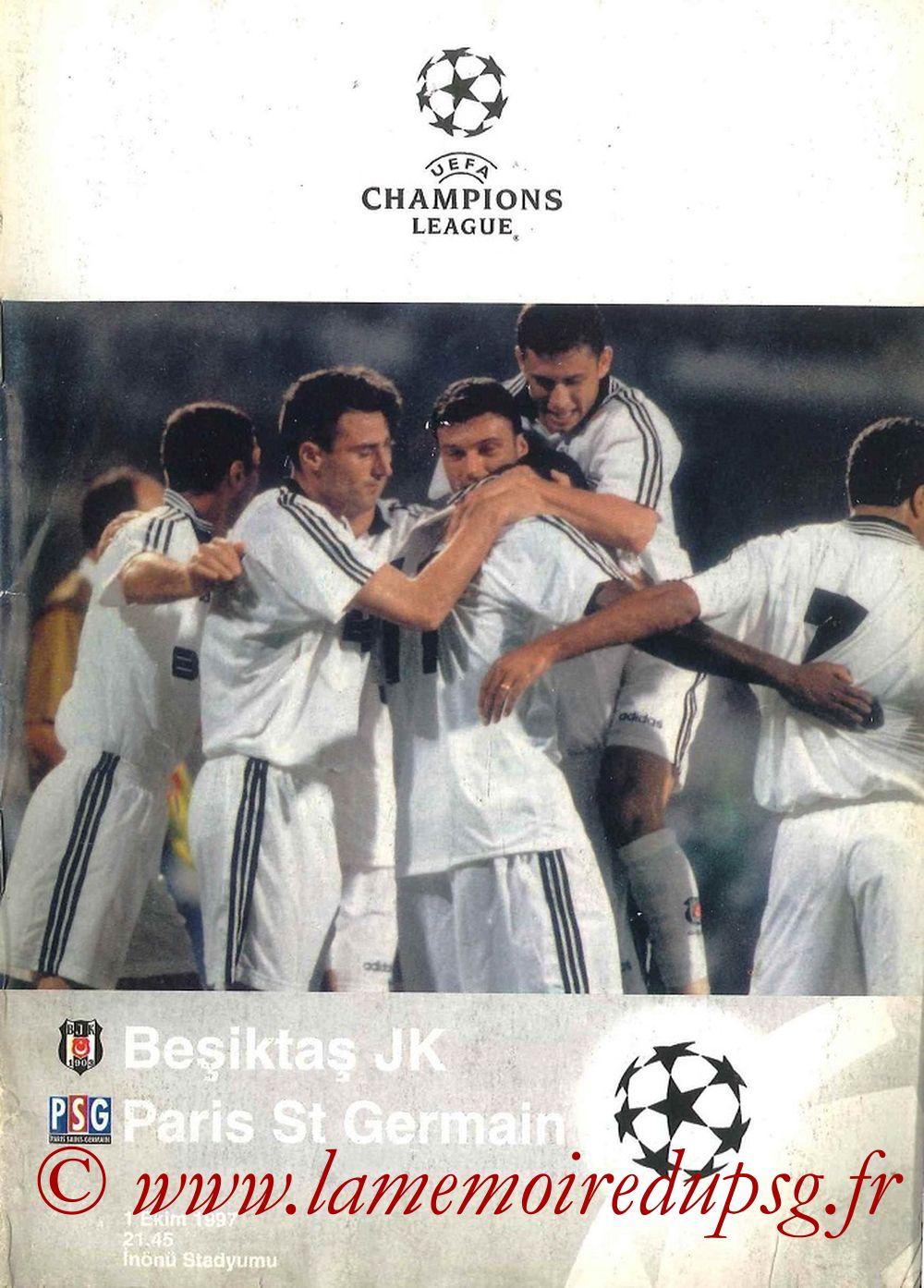 1997-10-01  Besiktas-PSG (2ème Poule C1, Programme officiel UEFA)