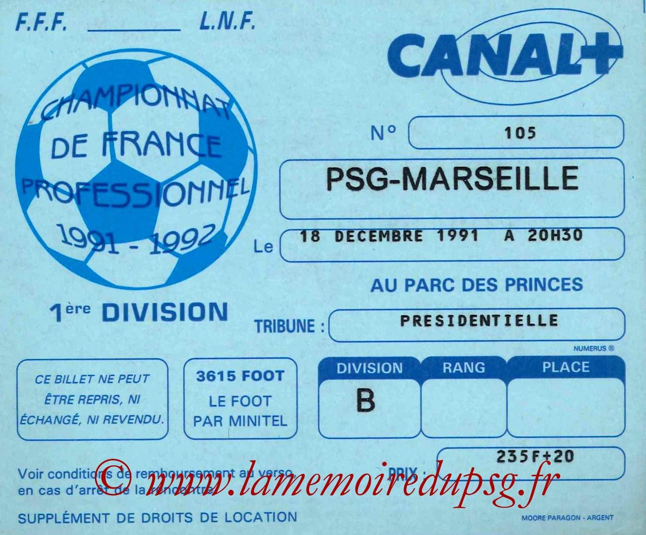 1991-12-18  PSG-Marseille (23ème D1)