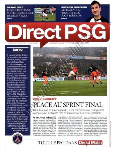 2011-04-01  PSG-Lorient (29ème L1, Direct PSG N°13)