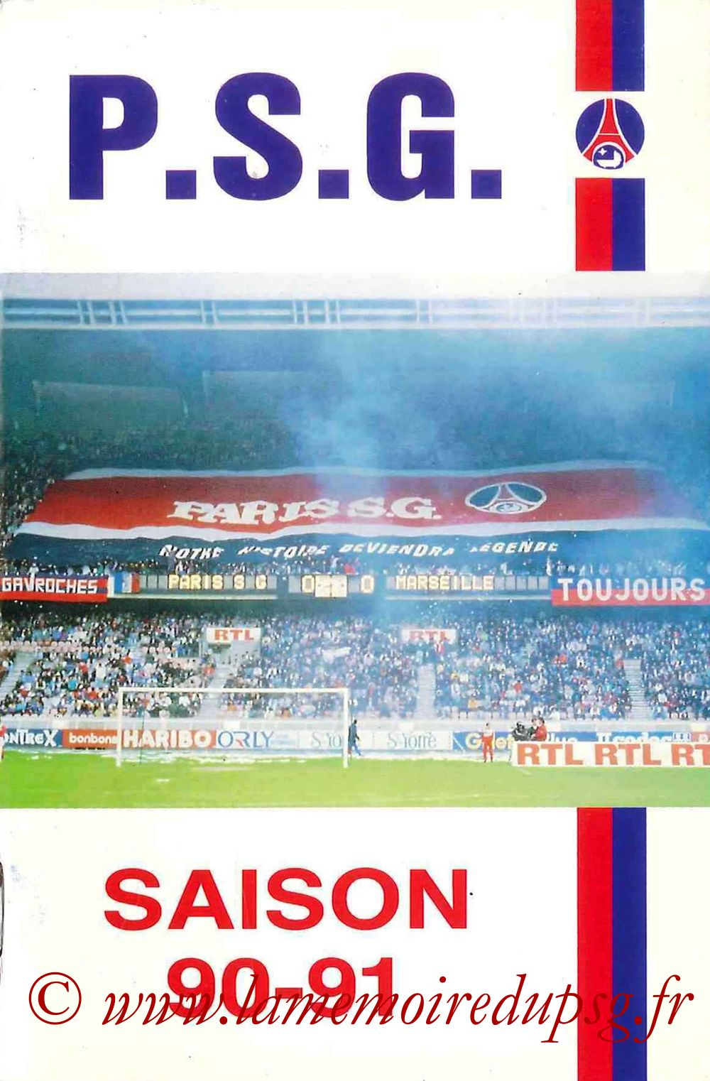 1990-91 - Guide de la Saison PSG - Couverture