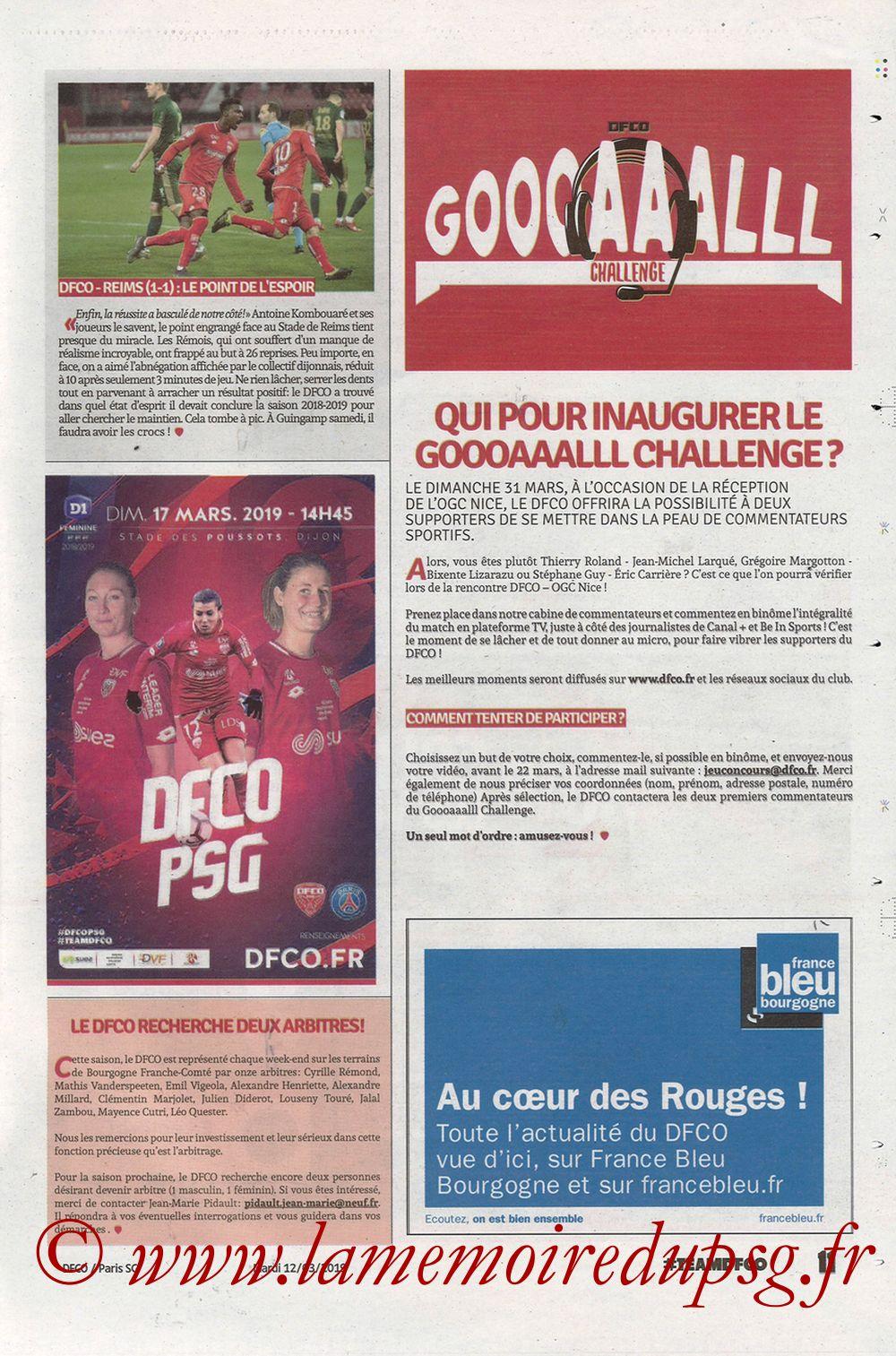 2019-03-12  Dijon-PSG (18ème L1 en retard, Chouett'Infos) - Page 11