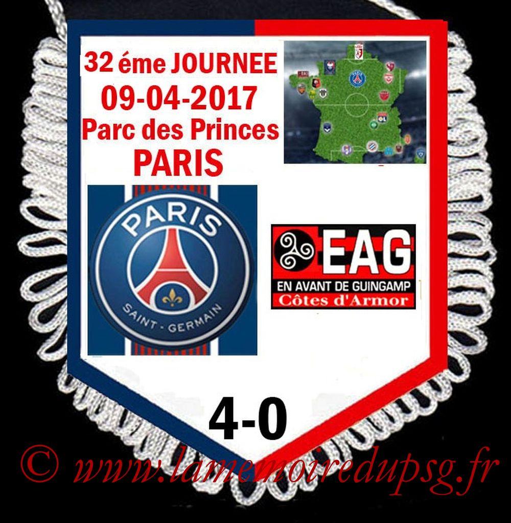 2017-04-09  PSG-Guingamp (32ème L1)