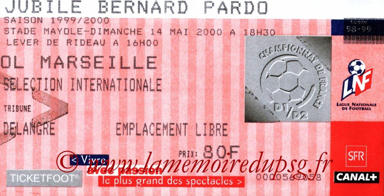 2000-05-14  Jubilé Bernard Pardo (Amical à Toulon)