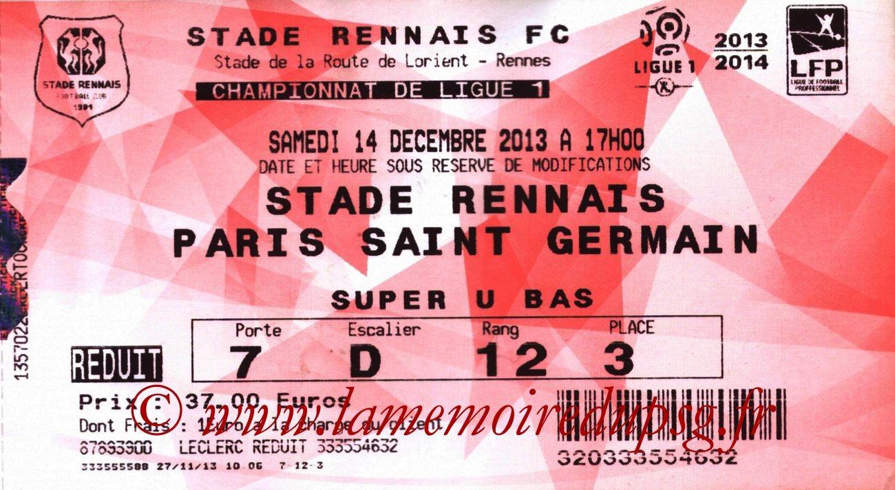 2013-12-14  Rennes-PSG (18ème L1, Ticketnet)