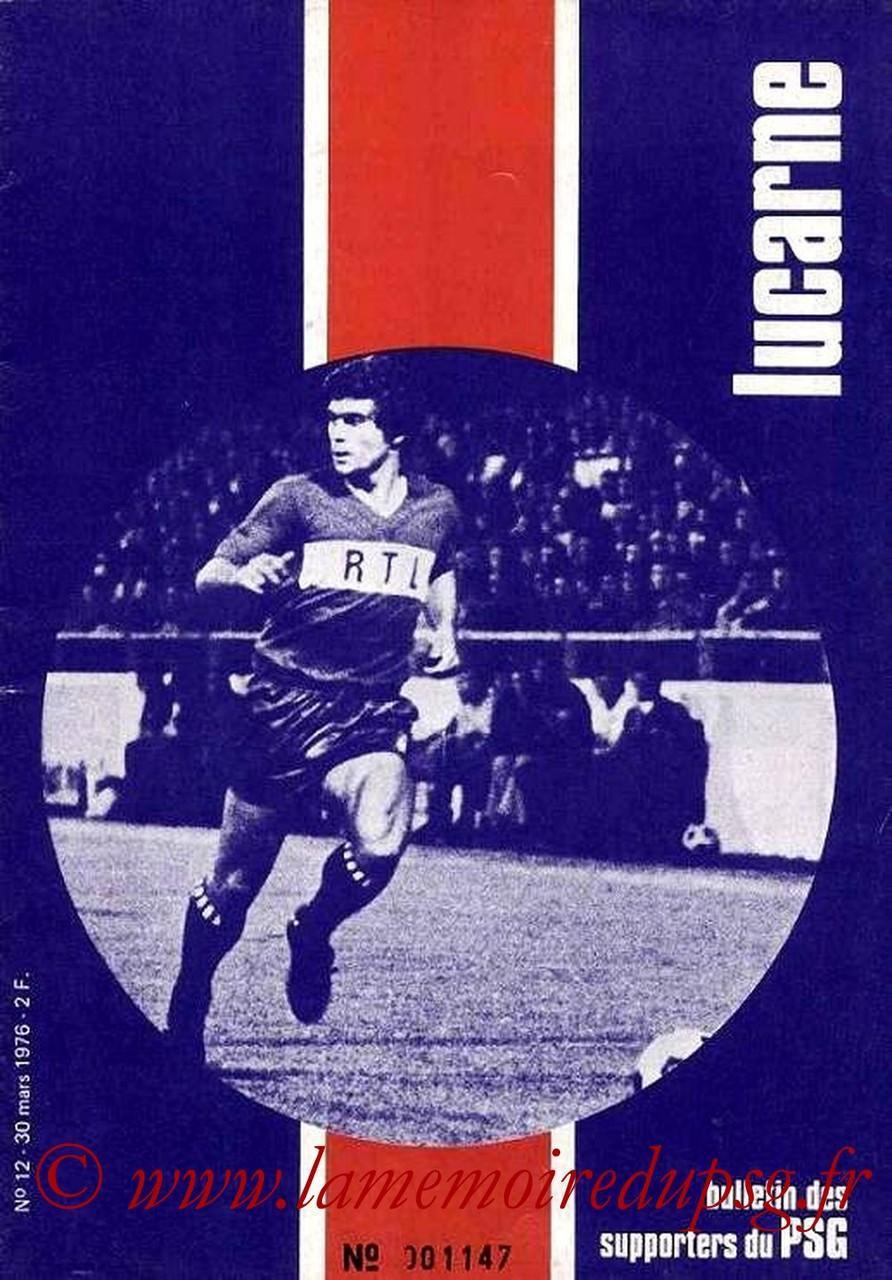 1976-03-30  PSG-Nimes (29ème D1, Lucarne N°12)