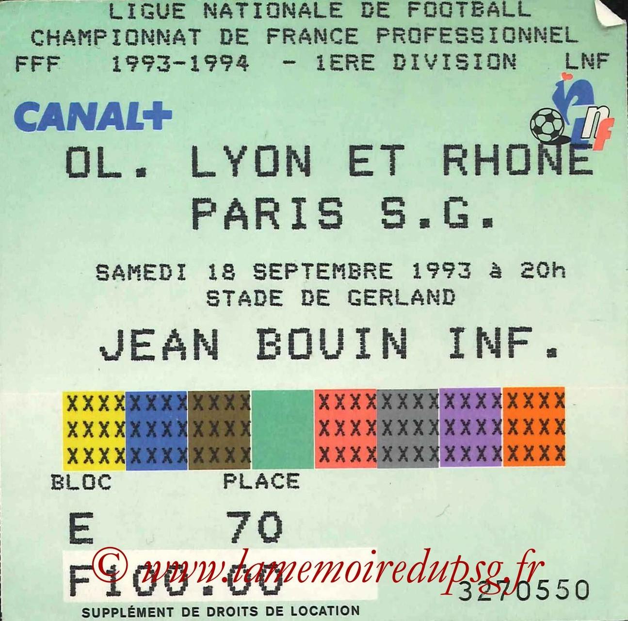 1993-09-18  Lyon-PSG (9ème D1)