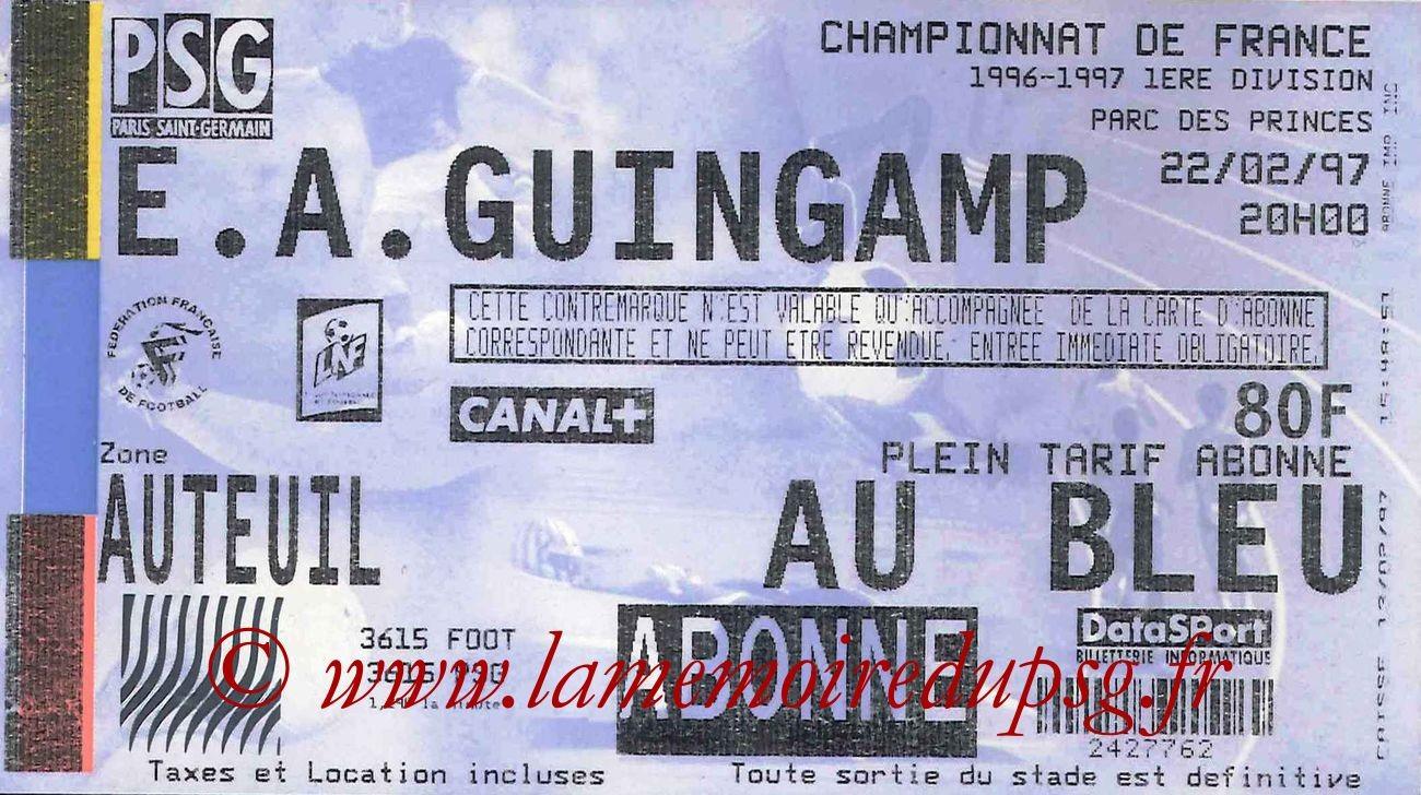 1997-02-22  PSG-Guingamp (27ème D1)