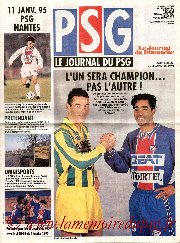 1995-01-11  PSG-Nantes (23ème D1, Le journal du PSG N°10)